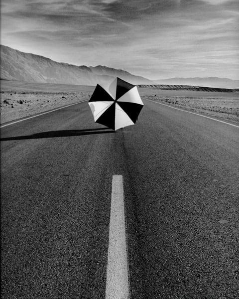 umbrella, lines, sky, death valley