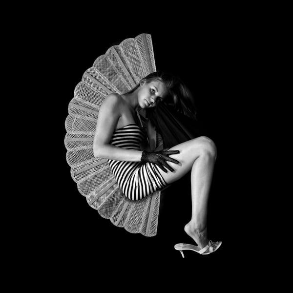 girl, shoes, fan