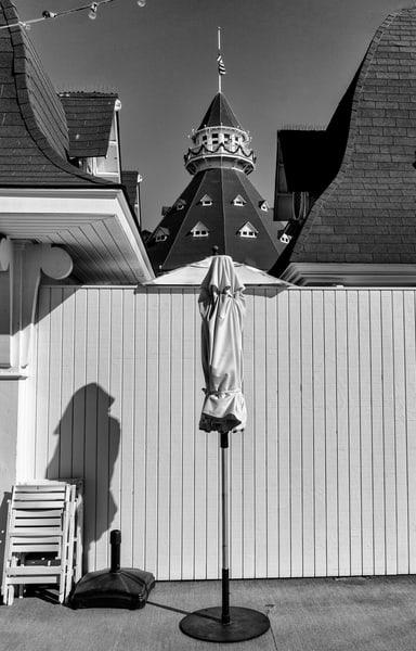 Hotel Del Coronado, umbrella, spire