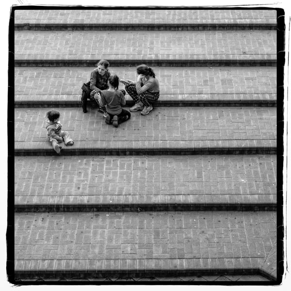 Tiberious   Children On The Steps Photography Art | David Frank Photography