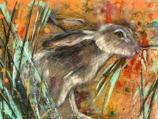 Hare In Grass Art | Cristina Acosta Art & Design llc