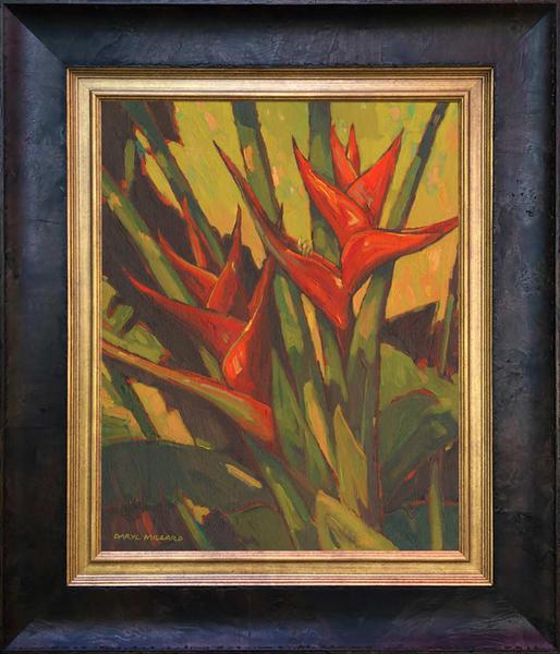 Red Heliconia ~ In Stock Framed Art | Daryl Millard Gallery LLC