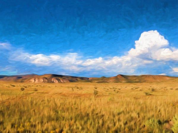 Summer, La Bajada Cliffs, painterly