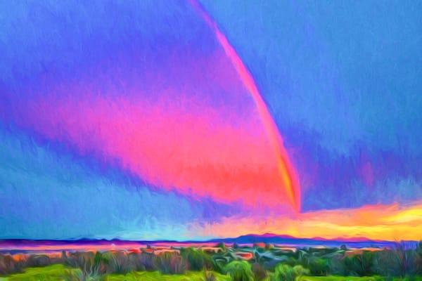 False Meteor strike, NM, sunset, rainbow