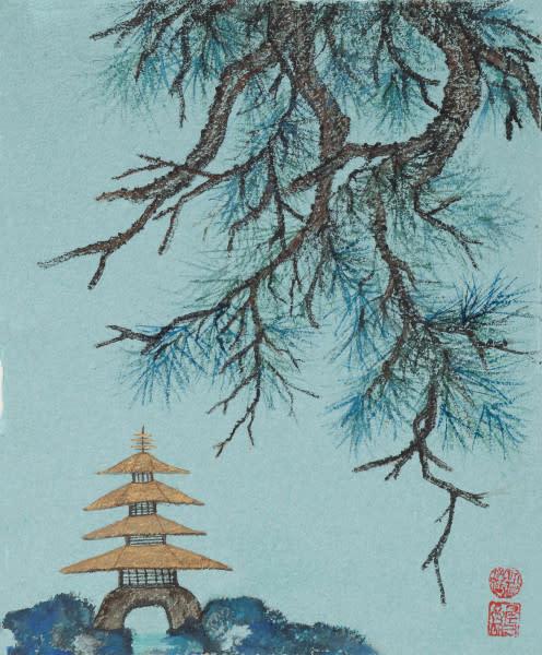 Gold Pagoda Art | donnadacuti