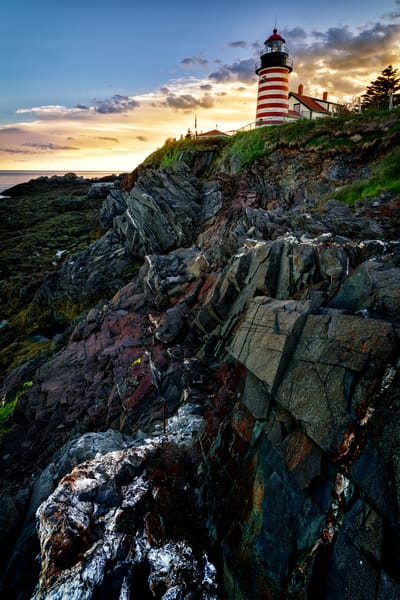 Sunset at West Quoddy Head Light | Shop Photography by Rick Berk