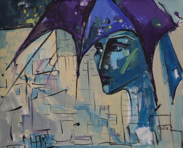 Purple Portrait Art   Merita Jaha Fine Art