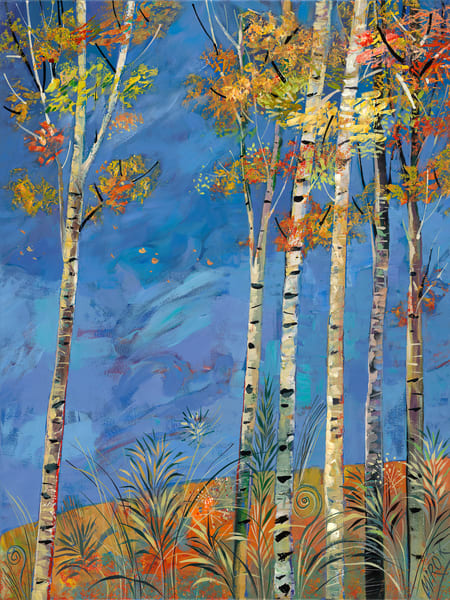Slue Sky Aspens/Open Edition Art | KenarovART Inc