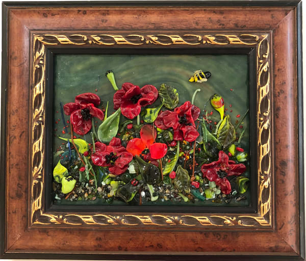 Poppies   Glass Panel Art | Art a la Carte Gallery (Karen Rexrode, Manager)