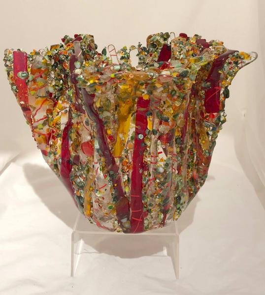 Spring's Riot   Candle Vessel Art | artalacarte