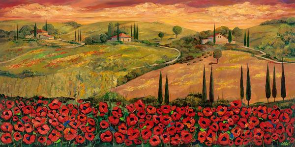 Poppies Field/Open Edition Art   KenarovART Inc
