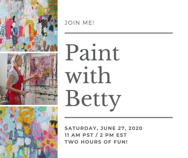 Paint with Betty | Online Workshop
