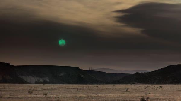 Super Moon, La Bajada Cliffs, NM. blue moon