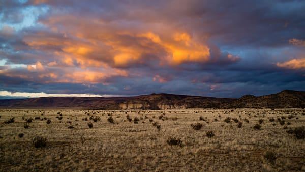 Sunset Clouds, La Bajada Cliffs
