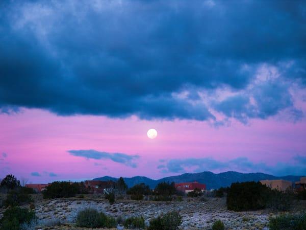 Moonset, sunrise, Cochiti Lake