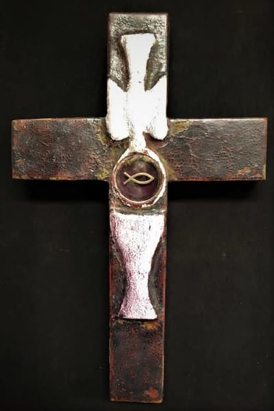Do This In Remembrance Of Me Cross Reliquary Art   Sacred Structures