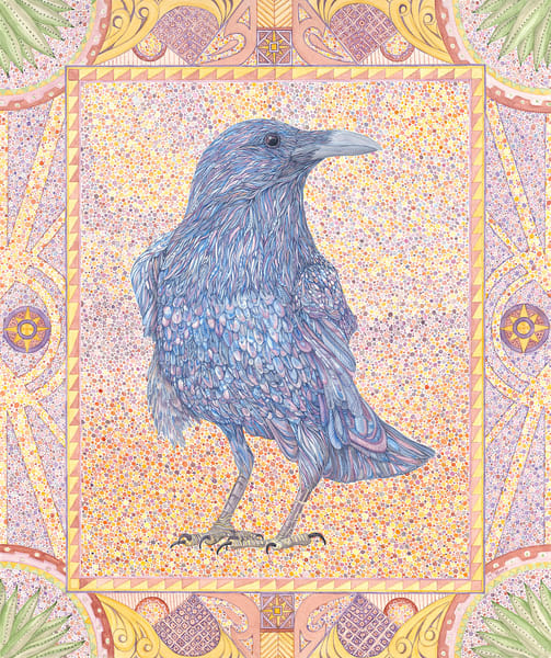 Standing Raven Art | Birds by Boyd