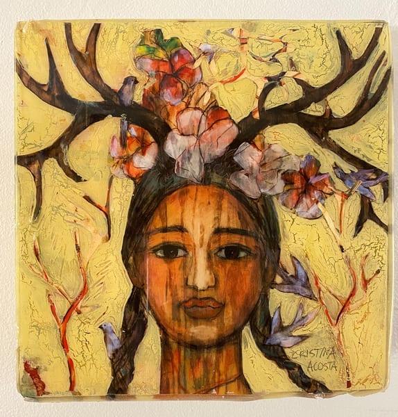 Bella Crowned With Love   Yellow  Art | Cristina Acosta Art & Design llc