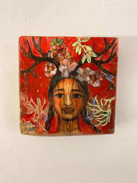 "Bella Crowned With Love   Red 10"" X 10"" Art 