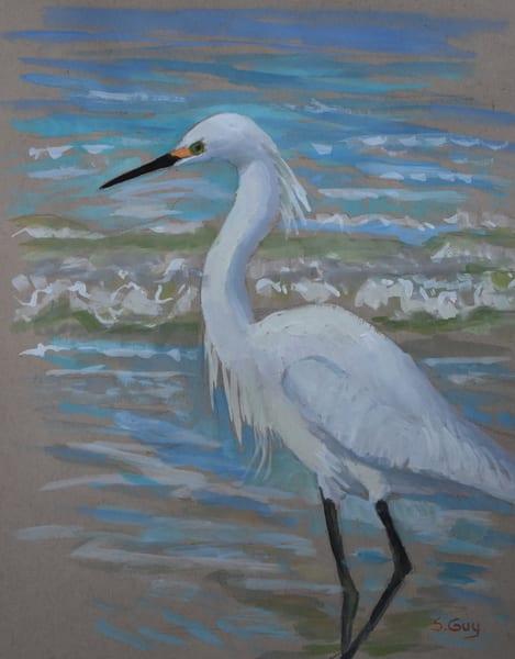 By The Water   Original Gouache Art | Sharon Guy