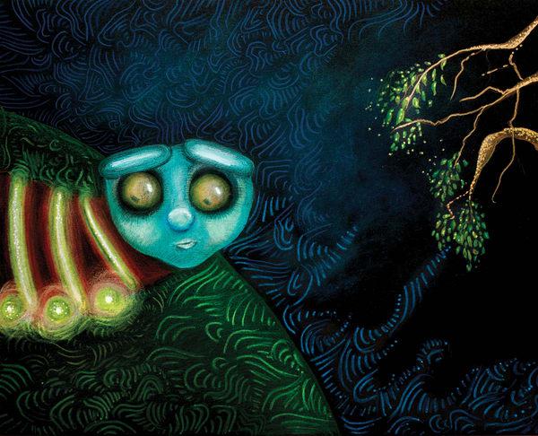 Glow Worm  Art | Angelica Hoyos Studio
