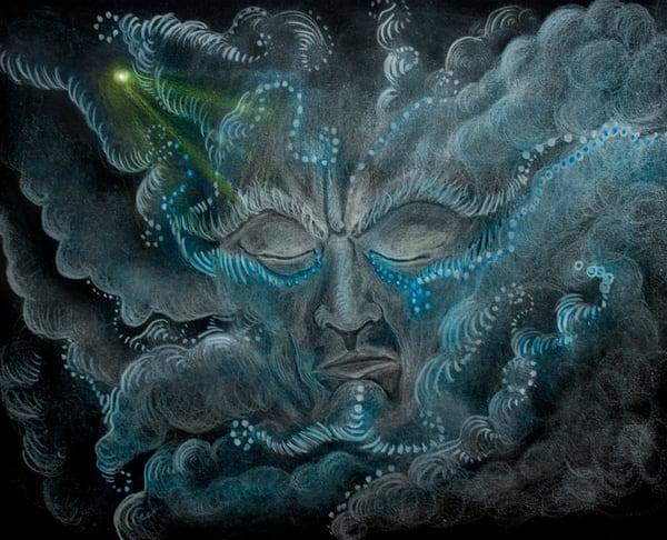 Angry Thunder Clouds  Art | Angelica Hoyos Studio