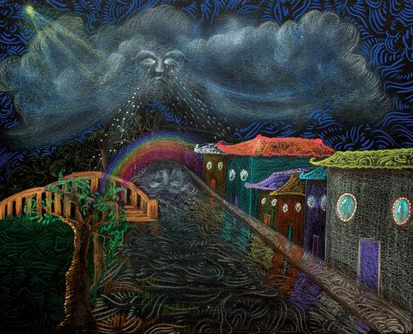 A Rainbow Is The Sky Smiling  Art | Angelica Hoyos Studio
