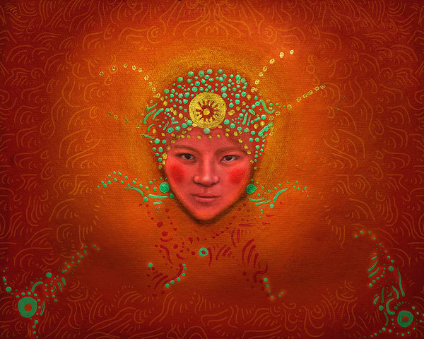 Colorful Roots Tibet 2 Art | Angelica Hoyos Studio