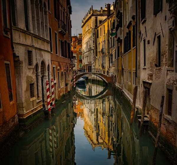 A typical canal in Venice