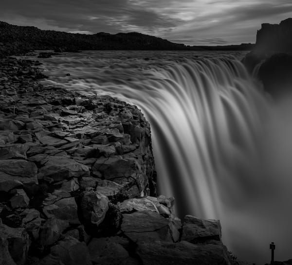 Powerful Dottifoss waterfall in Iceland