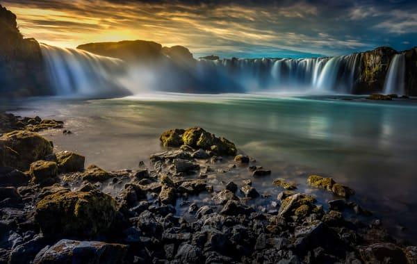 Goðafoss, Waterfall,