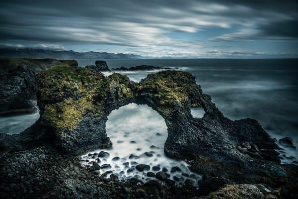 Seaside Cliffs of Arnarstapi in Iceland