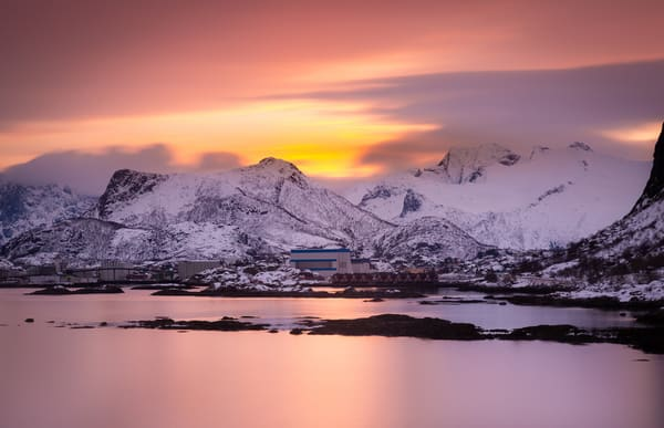 Sunset in Kabelvag, Norway