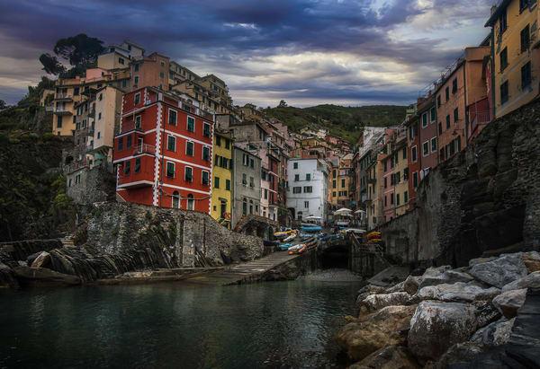 Colorful stone houses in Riomaggiore
