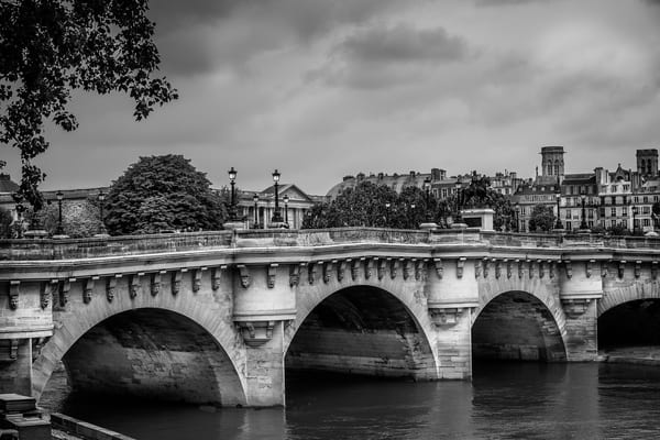 Pont Neuf bridge in monochrome