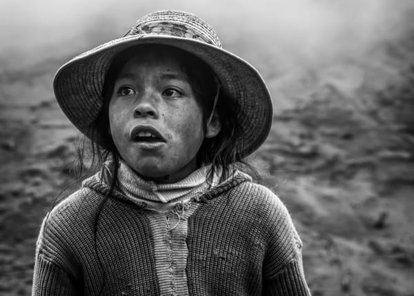 A villager in Kunkani, Peru