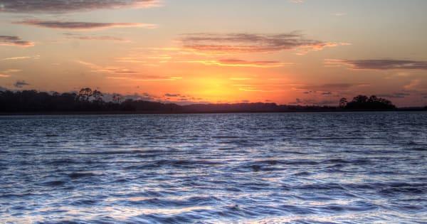 Sunset From Hunting Island Art | Willard R Smith Photography