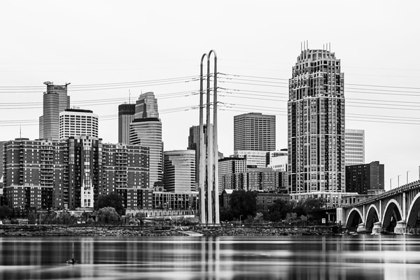 May Reflections Of Minneapolis Black And White 2 Photography Art | William Drew Photography