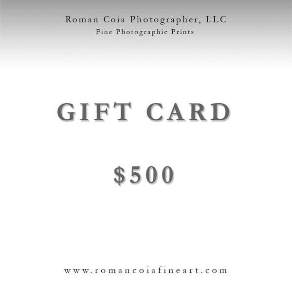 $500 Gift Card | Roman Coia Photographer
