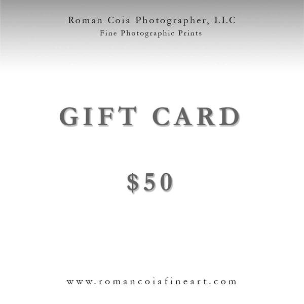 $50 Gift Card | Roman Coia Photographer