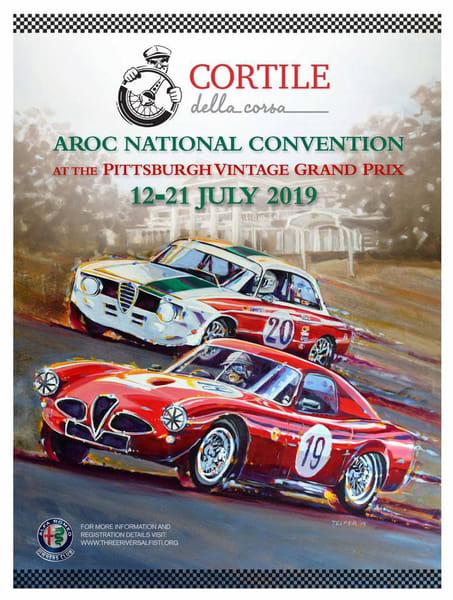 Cortile Della Corso Pittsburgh Vintage Grand Prix 2019 Poster | Telfer Design, Inc.