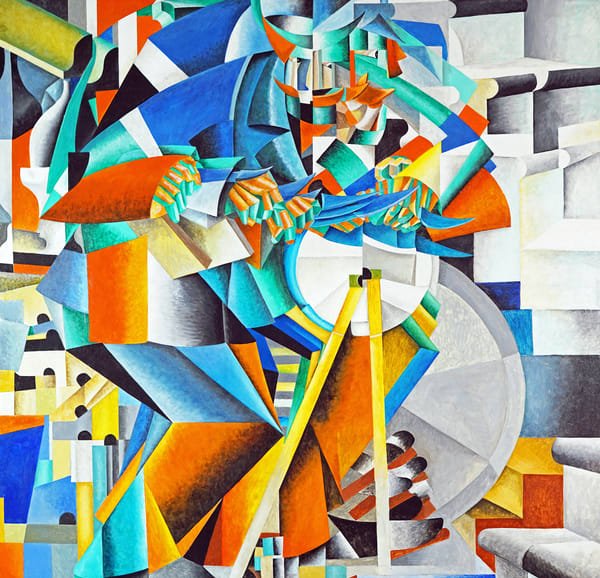 'The Knife Grinder', a 1912-13 cubo-futurist painting