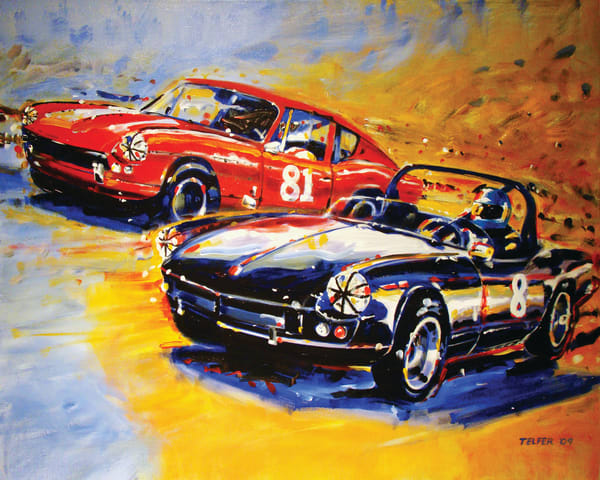 Dodson Racing Triumph Spitfire  Art | Telfer Design, Inc.