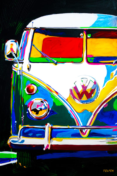 Vw Bus Fun  Art | Telfer Design, Inc.