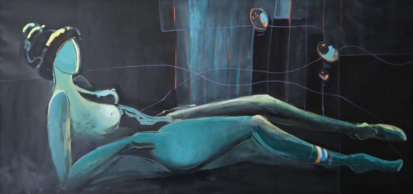 Woman In Repose Art | Merita Jaha Fine Art