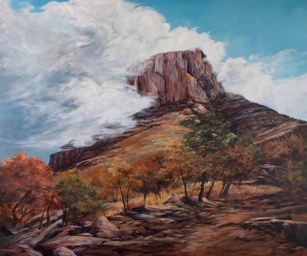 Lindy Cook Severns Art | Casa Grande Embraced by Clouds, print