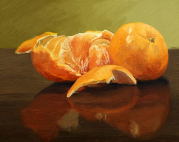 Peeled Tangerine  Art | Helen Vaughn Fine Art
