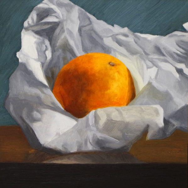 Wrapped Orange Art | Helen Vaughn Fine Art