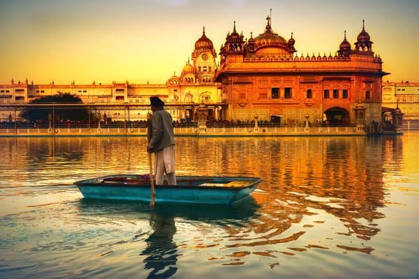 Golden Temple Boater Photography Art | nancyney