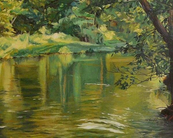 Late Afternoon On The Flint Art   Helen Vaughn Fine Art